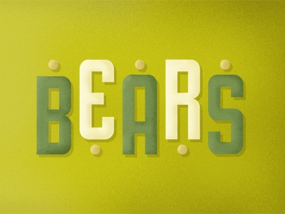 Bears Type typography illustration design type font typeface