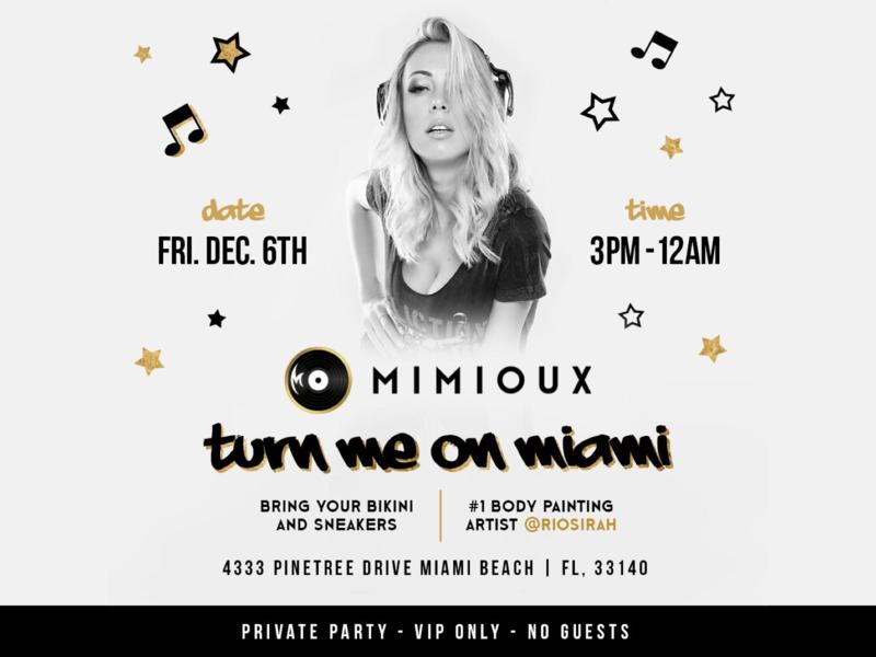 Mimioux party miami dj dj