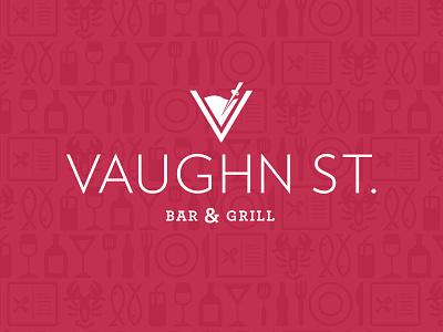 Vaughn New Variation vaughn st. bar  grill logo bar icons bar  grill icons bar  grill logo logo wilkes barre advertising creative rooster wilkes barre logo design bar logo