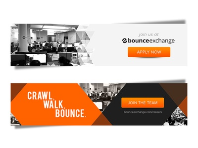bounce exchange linkedin banners by doug harris dribbble. Black Bedroom Furniture Sets. Home Design Ideas