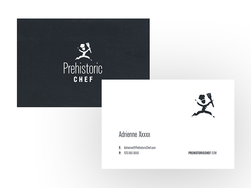 Prehistoric Chef Business Cards 2 by Doug Harris - Dribbble