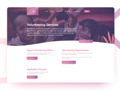Charity Landing Page people help volunteers kids web ux landing page charity
