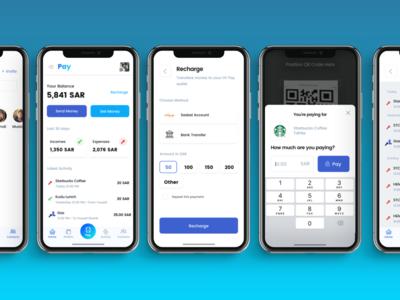 💸 Pay (App Concept) Screens ui app payment transaction ux iphonex clean money send receive wallet payment app qr