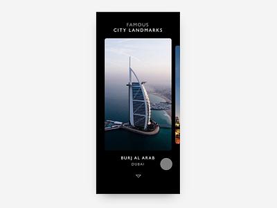 Explore landmarks of cities tourism cities saudi animation motion ios user experience design ui ux