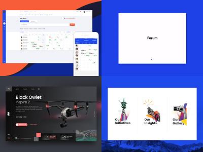 2018 Top 4 shots from UXBERT top 4 web ui  ux ui top shots 2018 design