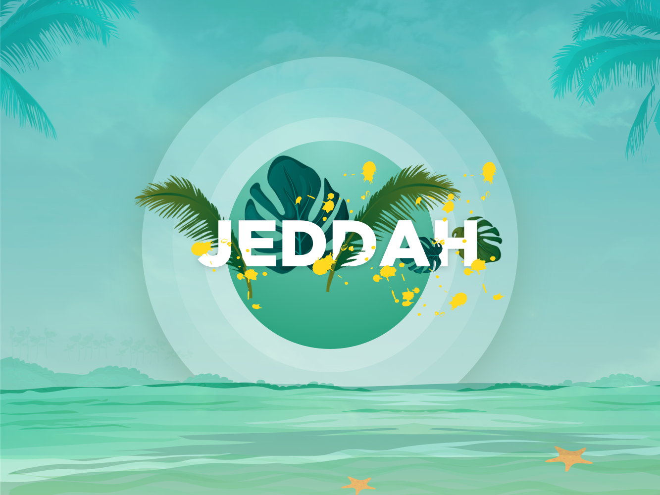 Jeddah Summer leaf green fun beach saudi jeddah summer