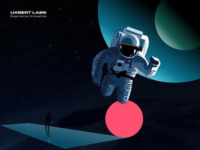 Space explorer 👩🚀 float planet dark astronaut space