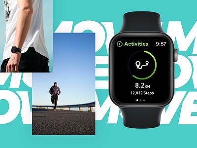 Move Watch App steps walk run move sport apple watch app