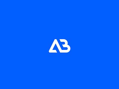 Afrobat Construction typography b a ab monogram brand logo blue