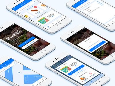 BarCode App map shop scaner shopping list ui ux mobile app barcode