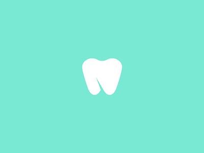 Dentist Logo apple negative medicine sygnet minimalist logo tooth dentist