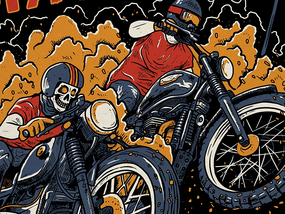 KLASICK RACE vol.II - POSTER motorcycle poster art