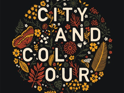 City And Colour merch apparel illustration illustrator band flowers illustration floral nature flower flowers