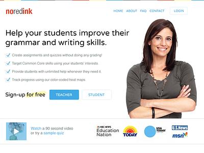 NoRedInk Homepage googleventures marketing homepage