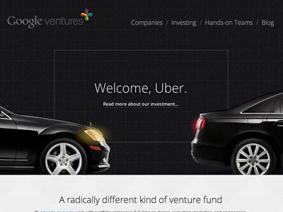 Uber + Google Ventures googleventures marketing homepage