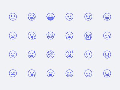 Healthicons.org Emoticons health emoticons emoji illustration icons