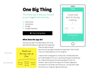 One Big Thing Website