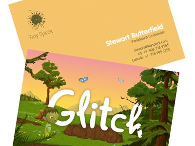 Glitch Business Cards glitch print tiny speck