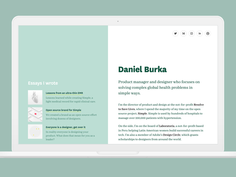 DanielBurka.com Website personal project website