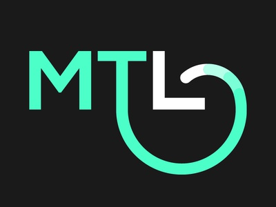 MTL Logo bold clear clean simple mint typography mark logotype arrow consulting logo