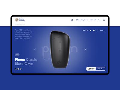 Heated Products — Web Store heatedproducts webstore branding ux logo website web minimal ui flat design