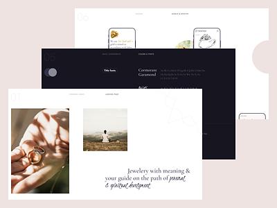 Diamond Angel — meditation rings logo flat ux ui uidesign web website minimal design