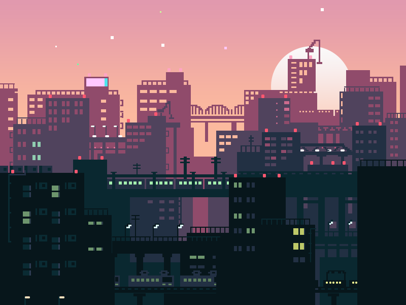City Sunset By Bin Xiang Dribbble Dribbble