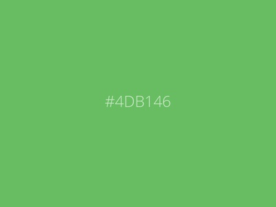 Favorite Color Playoff - Fresh #4DB146