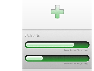 File Upload: drop zone & progress bar