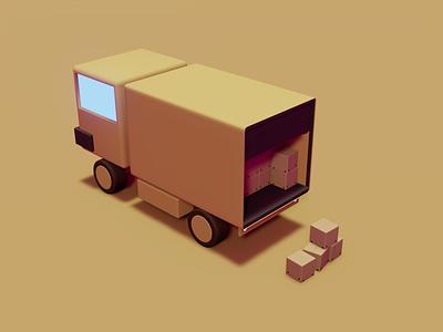 Delivery truck blender delivery graphic design branding 3d ux web ui web design illustrator vector illustration