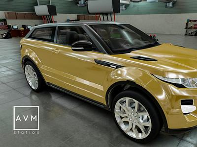 An SUV Car Parking autodesk 3ds max adobe photoshop texturing sculpting substance painter 3d modeling concept art avm station
