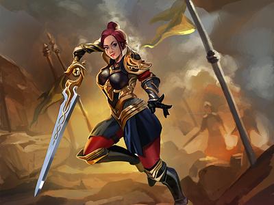 Ancient Warrior Female Concept Art graphic design character design adobe photoshop concept art
