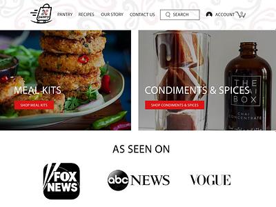 Restaurant website design by AVMS Digital. wix website design adobe photoshop
