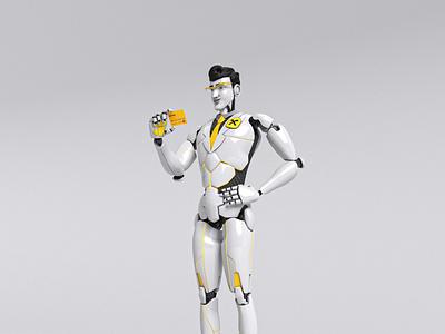 Smart Robot Concept Art 3ds max substance painter concept art 3d modeling character design adobe photoshop