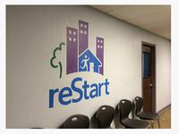 Restart logo wall