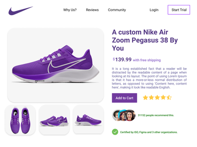 Daily UI: Day 11 of 100 ecommerce nike shoes nike product ui figma design dailyui