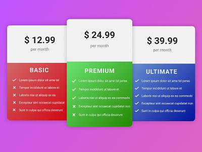 Daily UI: Day 29 of 100 basic premium pricing ui ux figma design dailyui