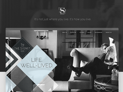 The Signet Luxury Homes - Website Design black minimal responsive ui ux contemporary modern patterns classy real-estate luxury elegant