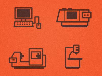Machine Shop Icons icons symbols machines