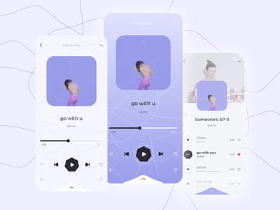 Mobile music player ux ios design design app player music ui track