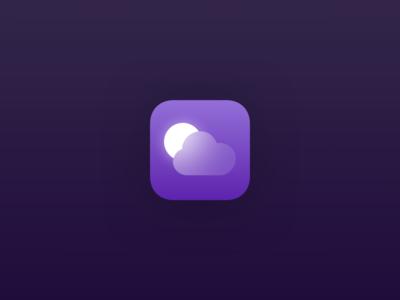 Weather iOS Icon (Night)