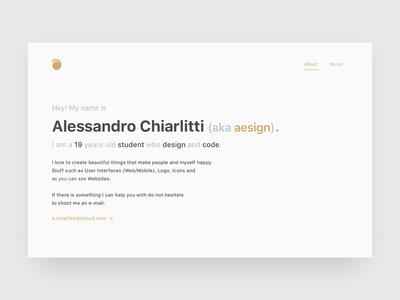 Portfolio — About