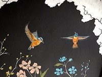 Kingfisher Mural for Local Watering Hole