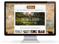 Wildgoose Coffee Company website design
