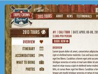 Triple Crown Travel Website Design