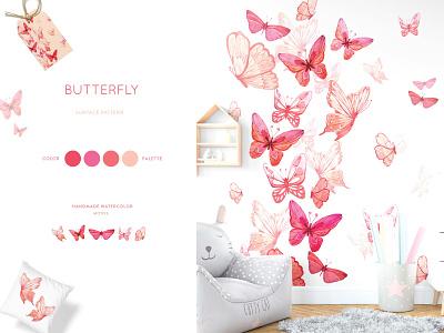 Watercolor pattern illustration design watercolor illustration textile print surface pattern print design
