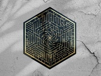 MaliciousLife Sticker vector art illustration illusion hidden key lock encryption cybersecurity maze puzzle vector
