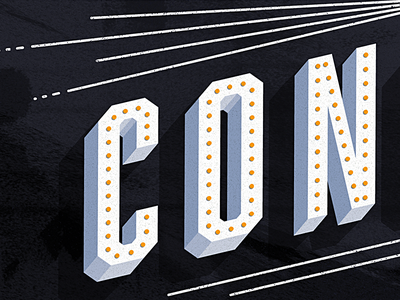 Concession Stand poster texture vintage retro typography illustration banner