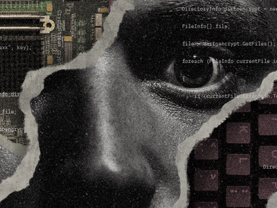 Botnet Honeypot cyber security cyber gritty collage art