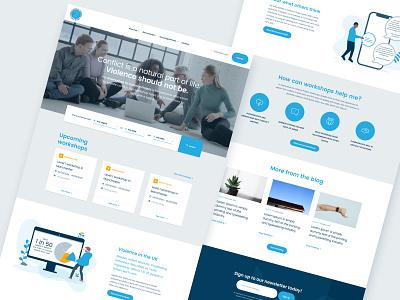 Charity Homepage nonprofit charity illustration branding design responsive homepage marketing agency web ux ui